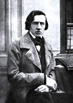 Det enda kända fotografiet av Chopin, ofta misstaget som daguerrotyp, Troligtvis taget 1849 av Bisson.