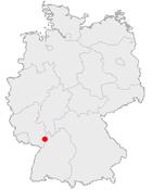 Speyers läge i Tyskland