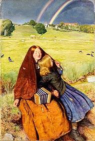 """""""Den blinda flickan"""" (1856), en målning av John Everett Millais"""