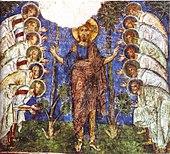 Jesus och apostlarna, fresk i Kappadokien, Turkiet