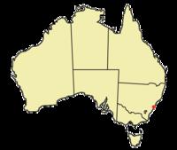 Lägeskarta för Sydney i Australien