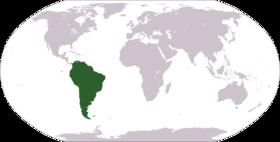 Sydamerika i världen.