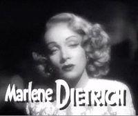 Marlene Dietrich i trailern till filmen Det hände i Berlin.